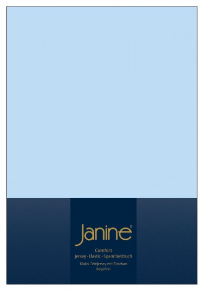 Janine Spannbetttuch Elastic-Jersey 5002 hellblau