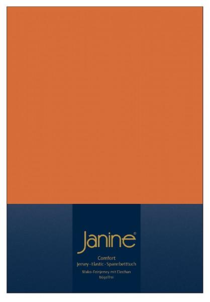 Janine Spannbetttuch Elastic-Jersey 5002 rost-orange