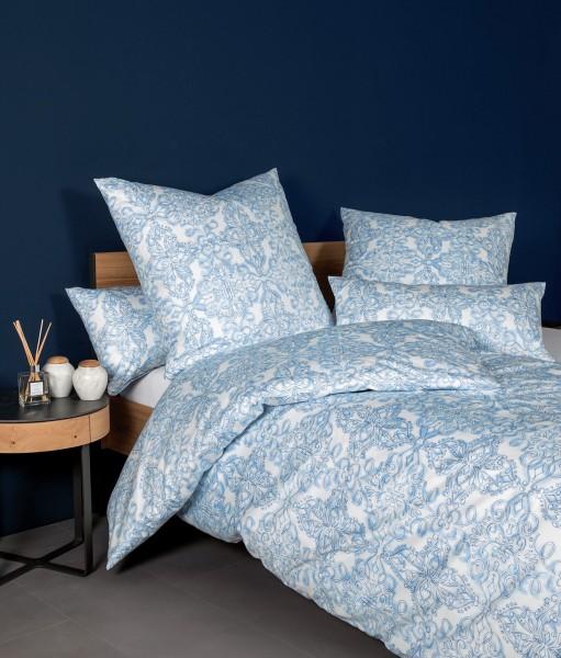 Janine Mako-Satin Bettwäsche Messina 43102 himmlisches blau