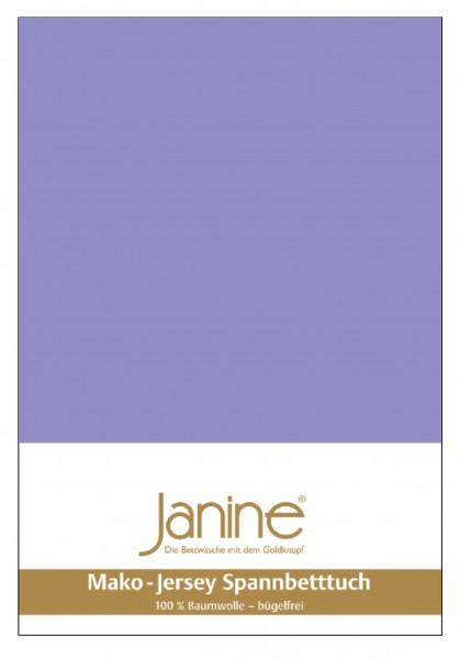 Janine Spannbetttuch Mako-Feinjersey 5007 flieder