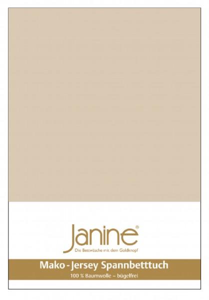 Janine Spannbetttuch Mako-Feinjersey 5007 sand