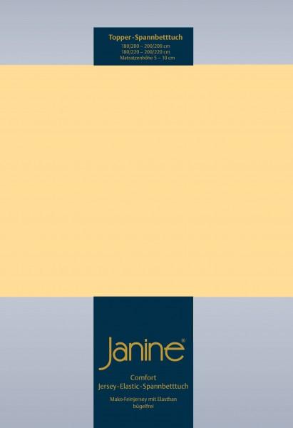 Janine Topper-Spannbetttuch 5001 (für Box-Spring Betten) vanille