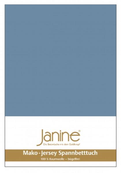 Janine Spannbetttuch Mako-Feinjersey 5007 denimblau
