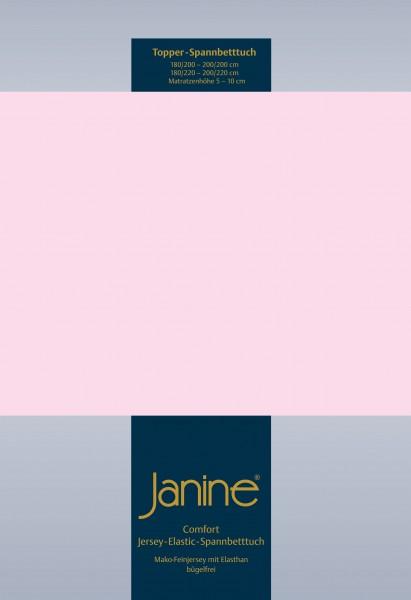 Janine Topper-Spannbetttuch 5001 (für Box-Spring Betten) zartrosa
