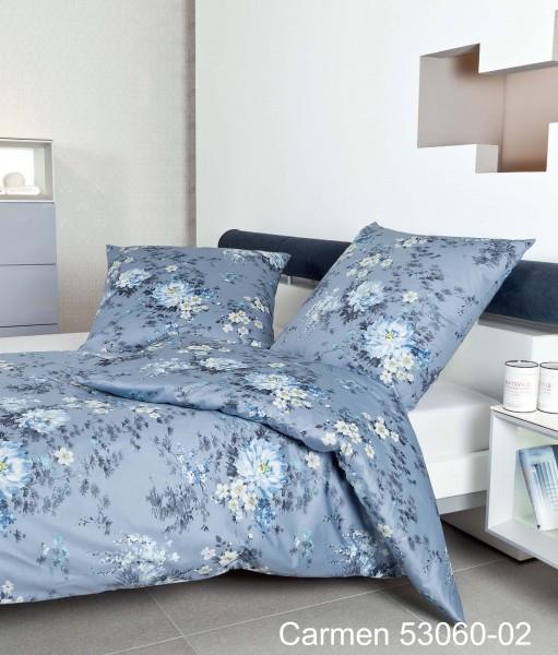 Janine Interlock-Jersey Bettwäsche CARMEN 53060 mondlichtblau