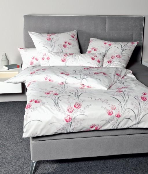 Janine Interlock-Jersey Bettwäsche CARMEN 53080 rosa grau