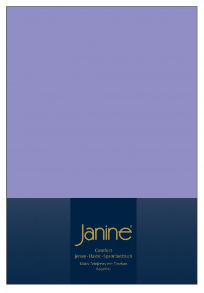Janine Spannbetttuch Elastic-Jersey 5002 flieder