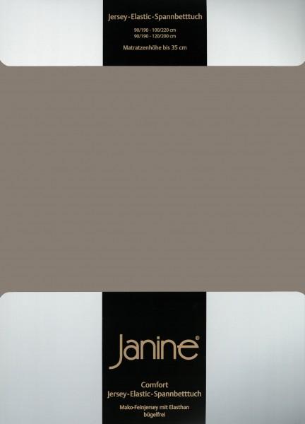 Janine Spannbetttuch Elastic-Jersey 5002 vulkan