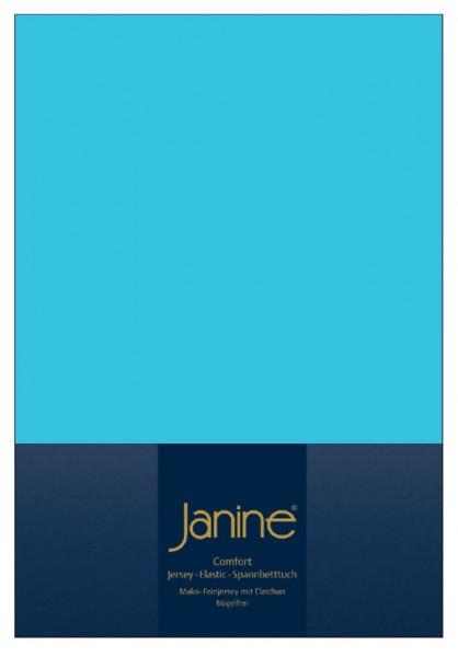 Janine Spannbetttuch Elastic-Jersey 5002 türkis