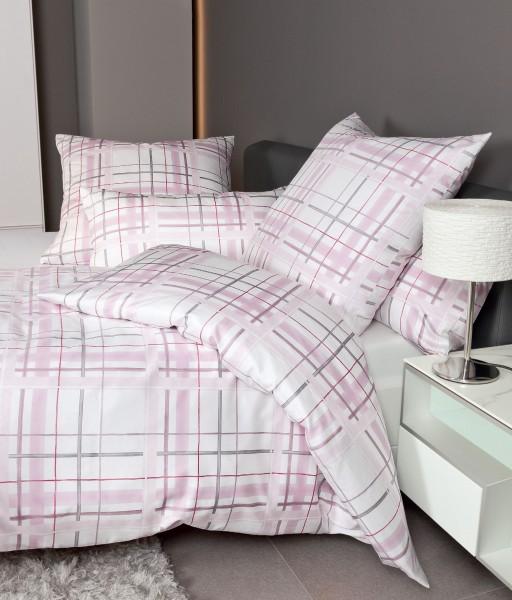 Janine Interlock-Jersey Bettwäsche CARMEN 53079 rosa grau