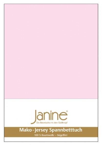 Janine Spannbetttuch Mako-Feinjersey 5007 zartrosa