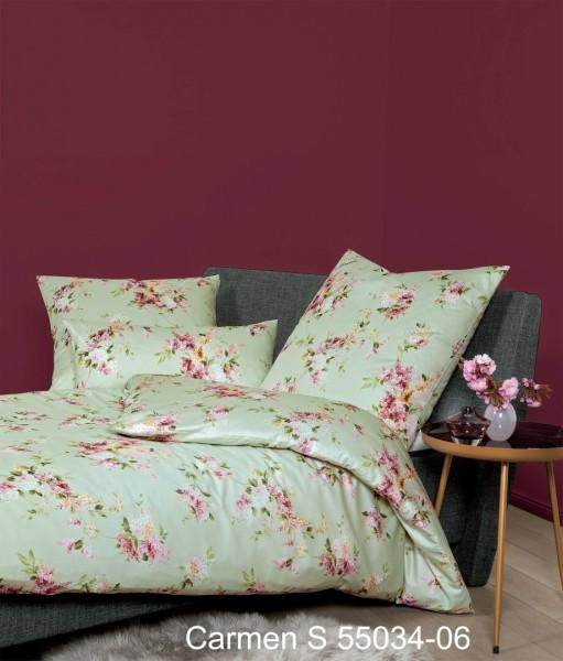 Janine Interlock-Jersey Bettwäsche CARMEN S 55034 salbeigrün