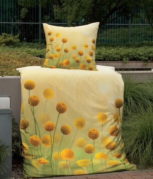 Janine Mako-Satin Bettwäsche modern art 42052 gelbgold