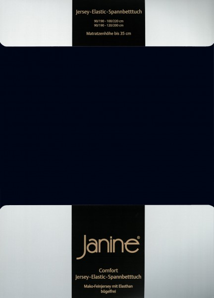 Spannbetttuch Elastic-Jersey 5002 schwarz
