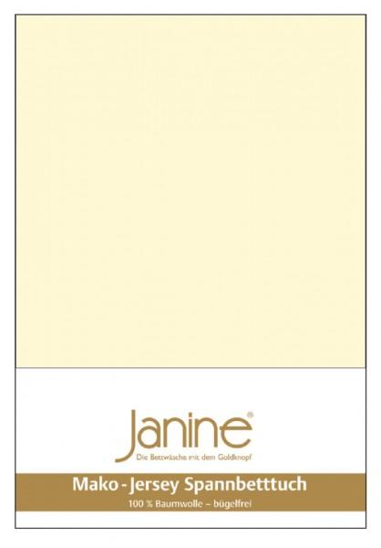 Janine Spannbetttuch Mako-Feinjersey 5007 champanger