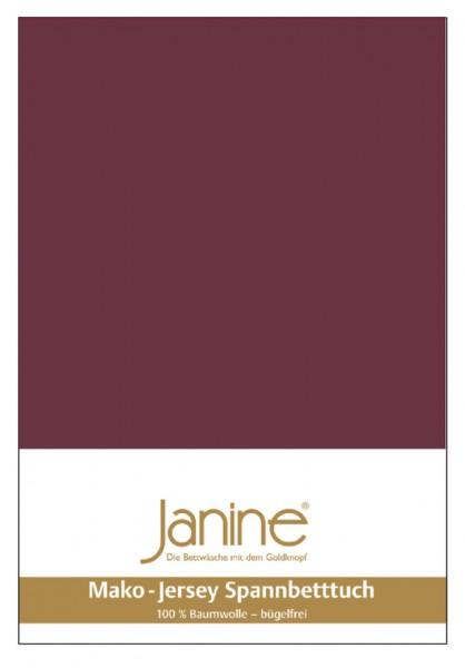 Janine Spannbetttuch Mako-Feinjersey 5007 burgund