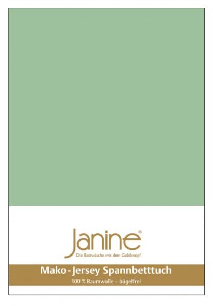 Janine Spannbetttuch Mako-Feinjersey 5007 lind
