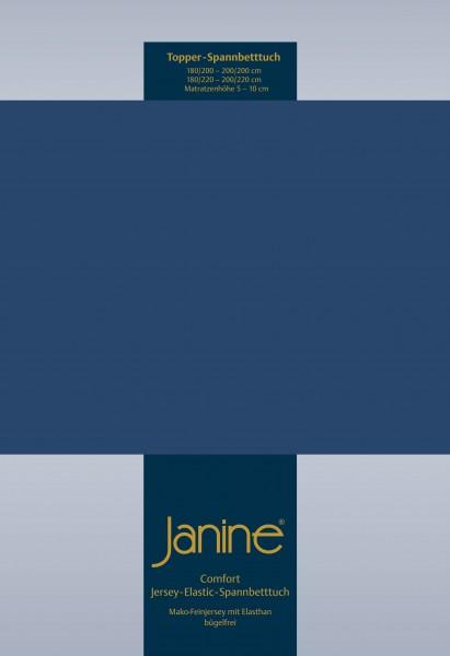 Janine Topper-Spannbetttuch 5001 (für Box-Spring Betten) marine