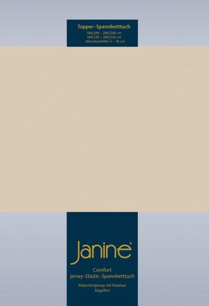 Janine Topper-Spannbetttuch 5001 (für Box-Spring Betten) sand
