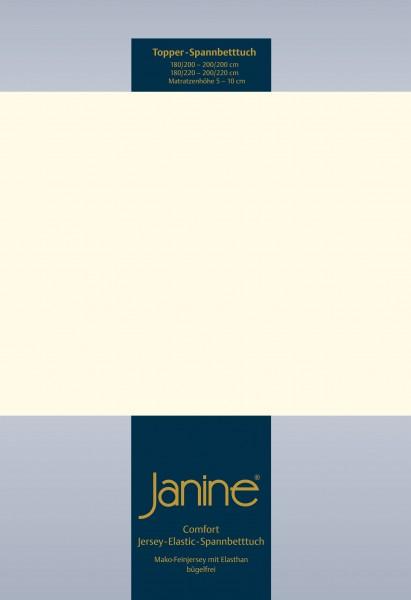 Janine Topper-Spannbetttuch 5001 (für Box-Spring Betten) natur