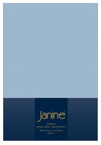Janine Spannbetttuch Elastic-Jersey 5002 perlblau