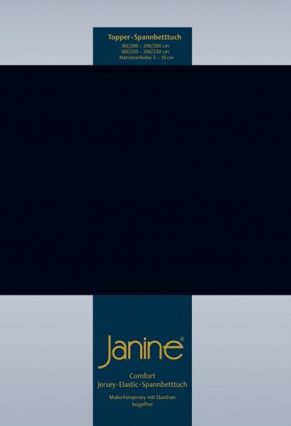 Janine Topper-Spannbetttuch 5001 (für Box-Spring Betten) schwarz