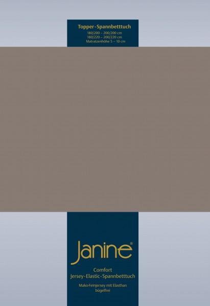 Janine Topper-Spannbetttuch 5001 (für Box-Spring Betten) taupe