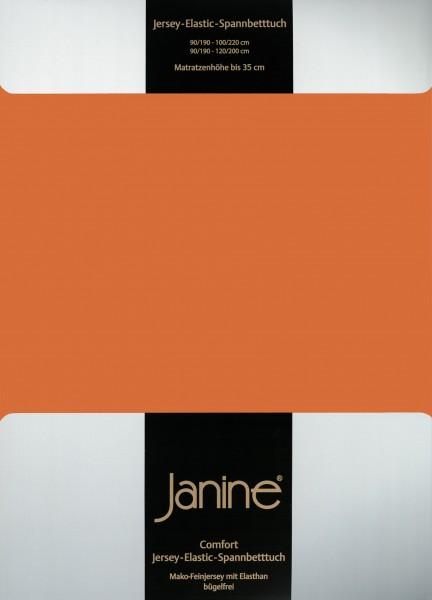 Spannbetttuch Elastic-Jersey 5002 rost-orange