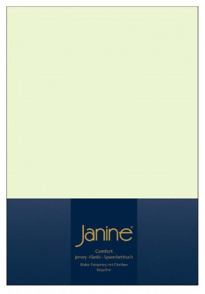 Janine Spannbetttuch Elastic-Jersey 5002 limone