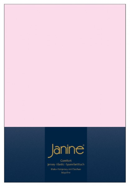 Janine Spannbetttuch Elastic-Jersey 5002 zartrosa