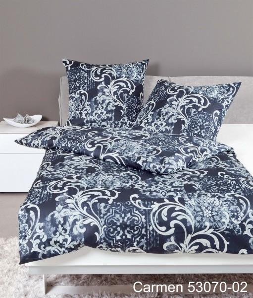 Janine Interlock-Jersey Bettwäsche CARMEN 53070 nachtschattenblau