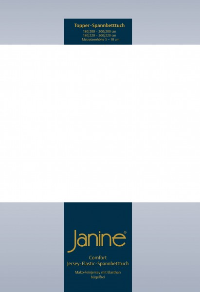 Janine Topper-Spannbetttuch 5001 (für Box-Spring Betten) weiß