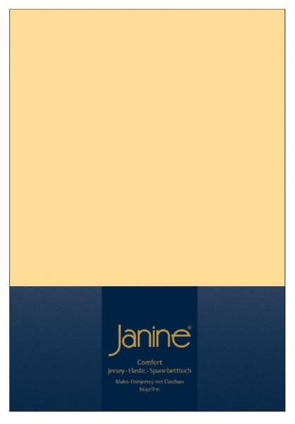 Janine Spannbetttuch Elastic-Jersey 5002 vanille
