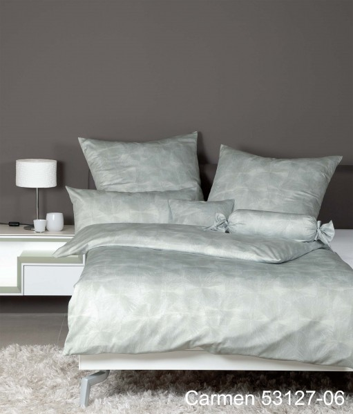 Janine Interlock-Jersey-Bettwäsche CARMEN 53127 salbeigrün