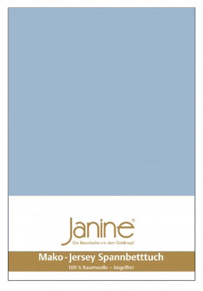 Janine Spannbetttuch Mako-Feinjersey 5007 perlblau