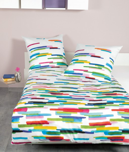 Janine Mako-Satin-Bettwäsche modern art 42069 multicolor