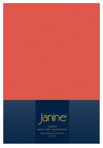 Janine Spannbetttuch Elastic-Jersey 5002 koralle