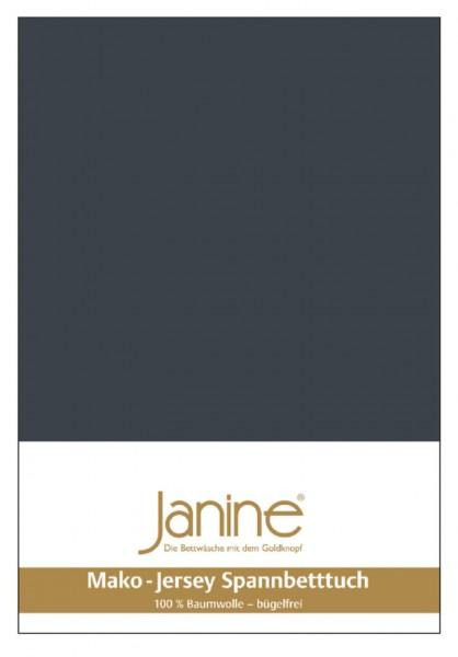 Janine Spannbetttuch Mako-Feinjersey 5007 titan