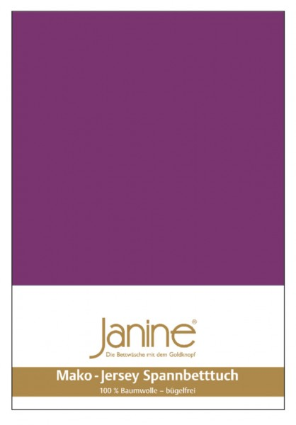 Janine Spannbetttuch Mako-Feinjersey 5007 malve