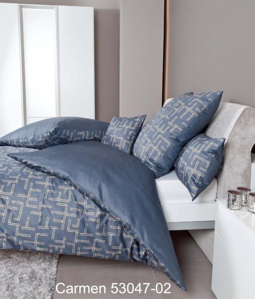 Janine Interlock-Jersey Bettwäsche CARMEN 53047 mondlichtblau