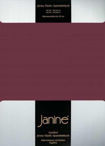 Spannbetttuch Elastic-Jersey 5002 burgund