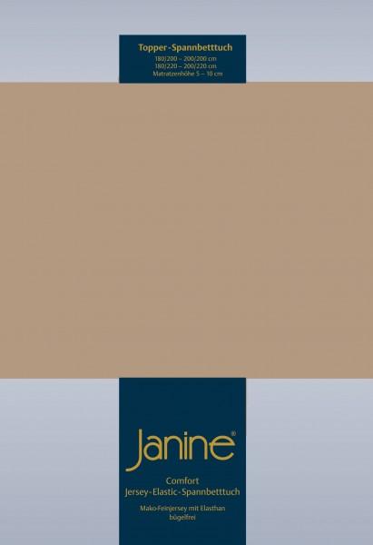 Janine Topper-Spannbetttuch 5001 (für Box-Spring Betten) nougat