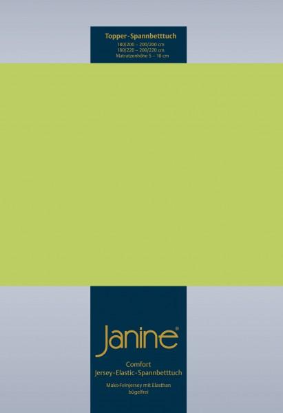 Janine Topper-Spannbetttuch 5001 (für Box-Spring Betten) apfelgrün