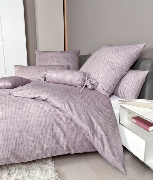 Mako-Satin Bettwäsche MESSINA 43086 gedämpftes violett