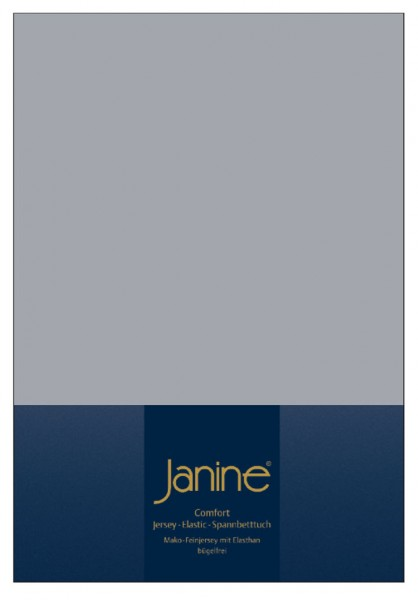 Janine Spannbetttuch Elastic-Jersey 5002 platin