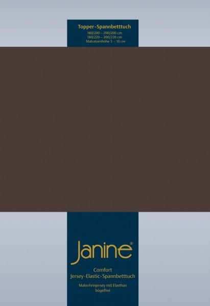 Janine Topper-Spannbetttuch 5001 (für Box-Spring Betten) dunkel braun