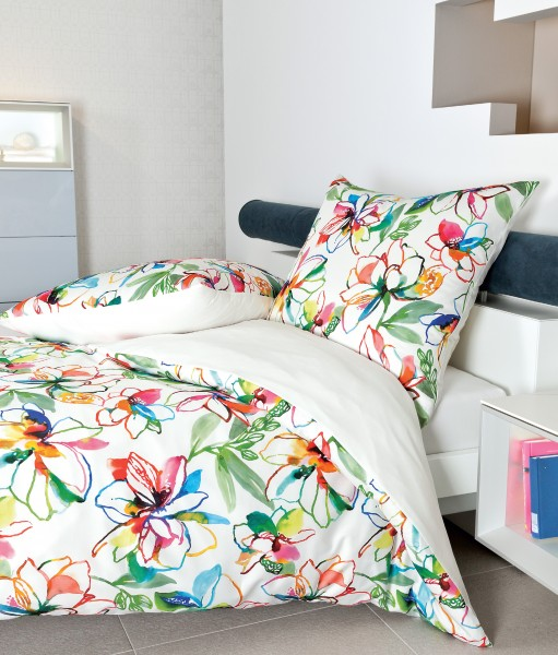 Janine Mako-Satin Bettwäsche modern art 42038 multicolor