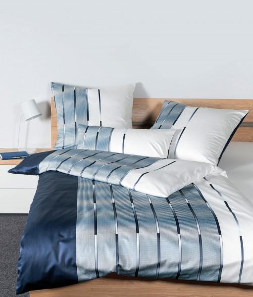 Janine Interlock-Jersey-Bettwäsche Carmen S 55026 nachtschattenblau perlblau