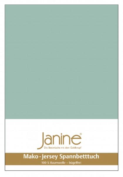 Janine Spannbetttuch Mako-Feinjersey 5007 rauchgrün