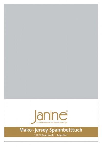 Janine Spannbetttuch Mako-Feinjersey 5007 silber